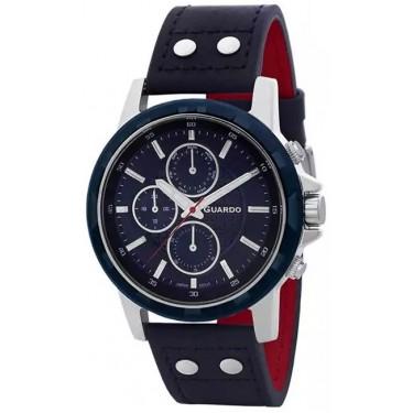 Мужские часы Guardo 11611-2 тёмно-синий