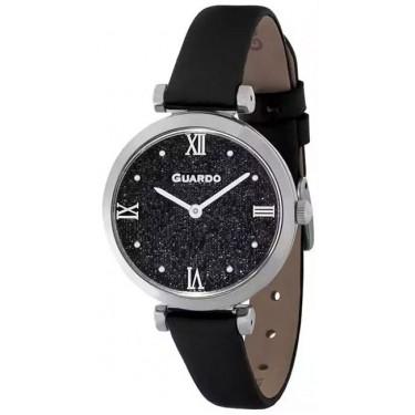 Женские часы Guardo 12333-1 чёрные стразы