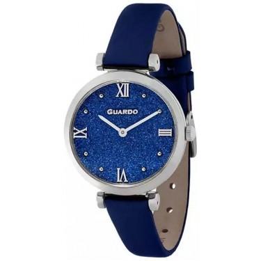 Женские часы Guardo 12333-2 синие стразы