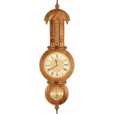 Бриг+ М-4 Часы дуб Метеостанция - Часы
