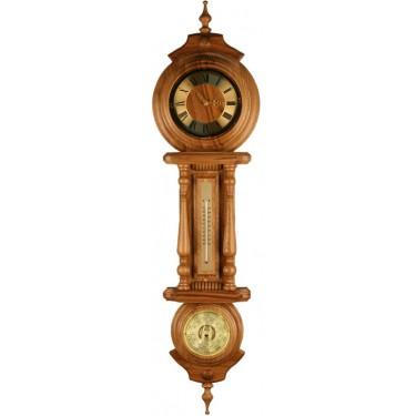 Бриг+ М-5 Часы дуб Метеостанция - Часы