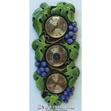 Метеостанция Mikhail Moskvin М-16 роспись, Виноград, метеостанция из камня