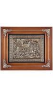 Kitch Clock 18-317 Деревянная ключница-часы Глухарь (коричневый багет)