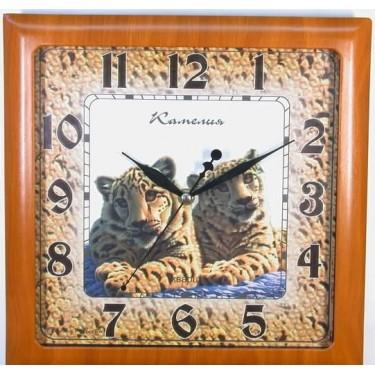 Настенные интерьерные часы Камелия 9265416 Тигрята/квадрат