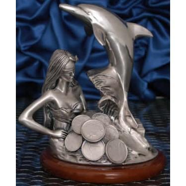 Богиня удачи с дельфином Moda Argenti ST 801 B/ SP
