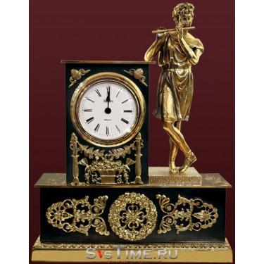 Часы Мальчик с флейтой из бронзы Vel 03-12-02-00301