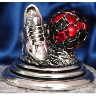 Футбольный трофей с черно-красным мячом Moda Argenti ST 785 C