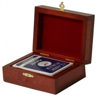 Колода карт в деревянной шкатулке Rovertime RT-21