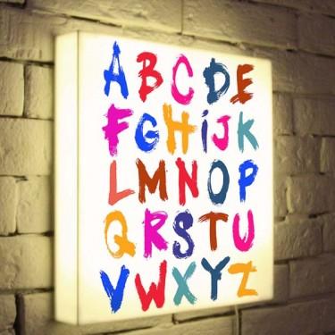 Лайтбокс для детской Alphabet BoxPop 35x35-004