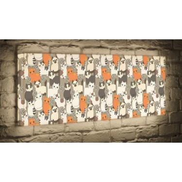 Лайтбокс для детской или спальни Котики BoxPop 45x135-p013