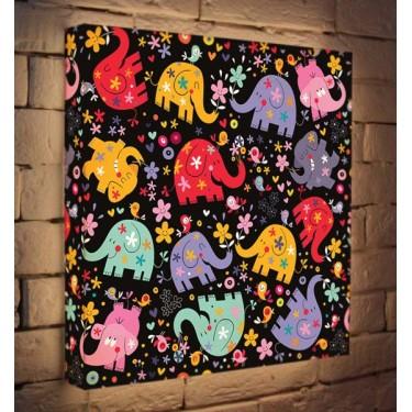 Лайтбокс для детской Слоники BoxPop 45x45-007