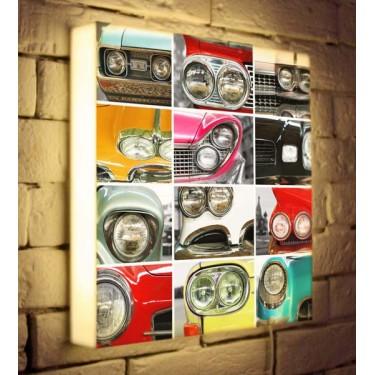 Лайтбокс для гостиной или офиса Автомобили BoxPop 35x35-171