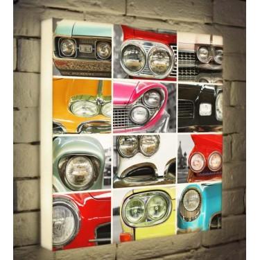 Лайтбокс для гостиной или офиса Автомобили BoxPop 45x45-171