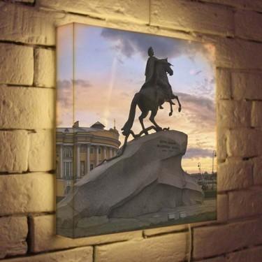 Лайтбокс для гостиной или офиса Медный всадник BoxPop 35x35-064