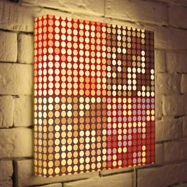 Лайтбокс для гостиной или спальни Абстракция BoxPop 35x35-066
