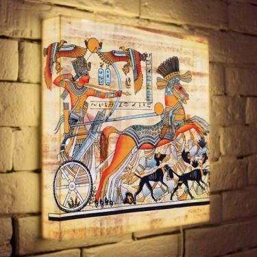 Лайтбокс для гостиной или спальни Египетская колесница BoxPop 35x35-135