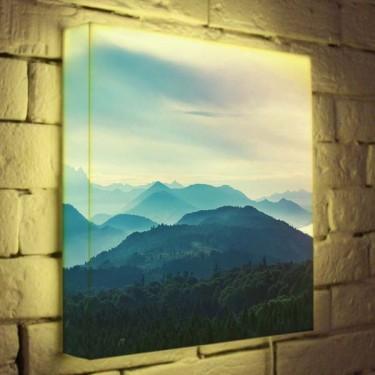 Лайтбокс для гостиной или спальни Горный пейзаж BoxPop 35x35-013