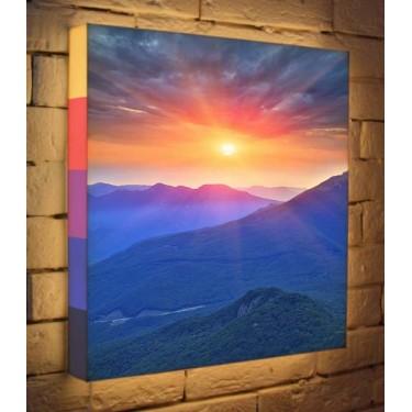 Лайтбокс для гостиной или спальни Горный рассвет BoxPop 45x45-099