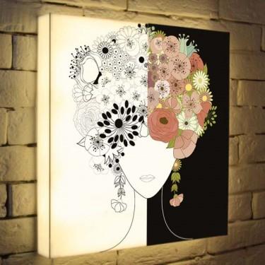 Лайтбокс для гостиной или спальни Летний портрет BoxPop 45x45-019