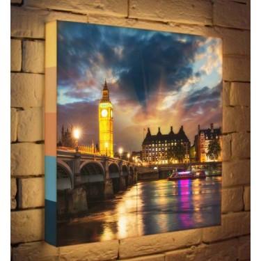 Лайтбокс для гостиной или спальни Лондон BoxPop 45x45-101