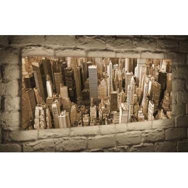 Лайтбокс для гостиной или спальни Манхеттен BoxPop 45x135-p009