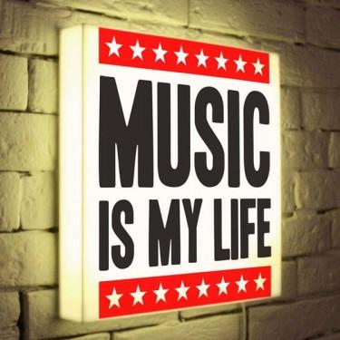 Лайтбокс для гостиной или спальни Music is my Life BoxPop 35x35-072