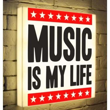 Лайтбокс для гостиной или спальни Music is my Life BoxPop 45x45-072