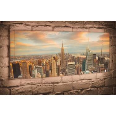 Лайтбокс для гостиной или спальни Над городом BoxPop 35x105-p018