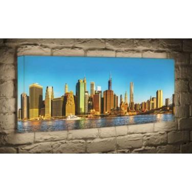 Лайтбокс для гостиной или спальни NYC BoxPop 45x135-p004