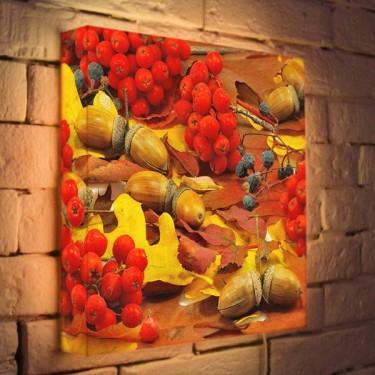 Лайтбокс для гостиной или спальни Осенний натюрморт BoxPop 35x35-068