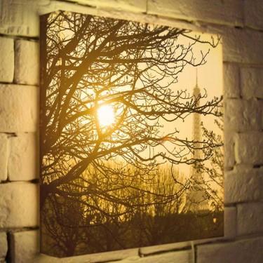 Лайтбокс для гостиной или спальни Осенний туман BoxPop 35x35-090
