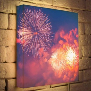 Лайтбокс для гостиной или спальни Салют BoxPop 35x35-091