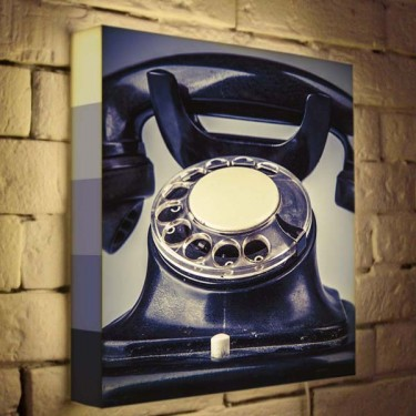Лайтбокс для гостиной или спальни Телефон BoxPop 35x35-082