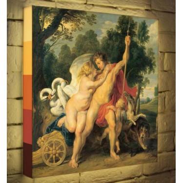 Лайтбокс для гостиной или спальни Венера и Адонис BoxPop 45x45-148