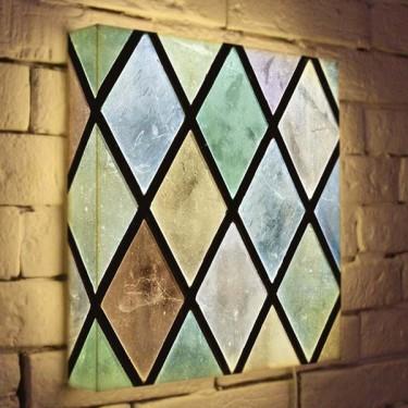 Лайтбокс для гостиной или спальни Витраж BoxPop 35x35-042