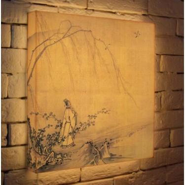 Лайтбокс для гостиной или спальни Восточный рисунок BoxPop 45x45-142
