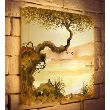 Лайтбокс для гостиной или спальни Японское дерево BoxPop 35x35-156