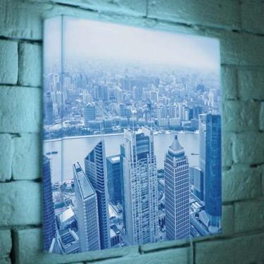 Лайтбокс для гостиной, кухни или офиса Шанхай BoxPop 35x35-036