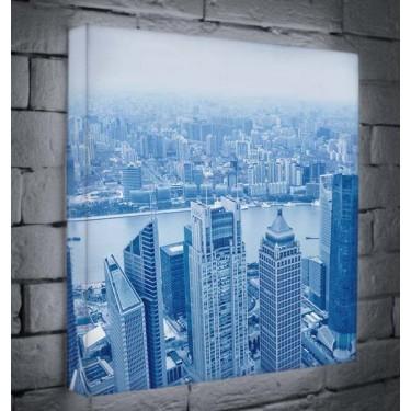 Лайтбокс для гостиной, кухни или офиса Шанхай BoxPop 45x45-036