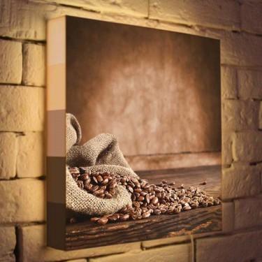 Лайтбокс для кухни Кофе BoxPop 35x35-063