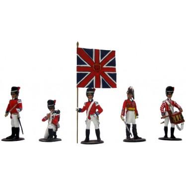 Набор миниатюр в деревянной шкатулке Англичане при Ватерлоо Rovertime 31.42.M