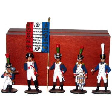 Набор миниатюр в деревянной шкатулке Французы Rovertime 31.43.M