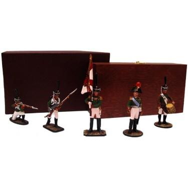 Набор миниатюр в деревянной шкатулке Лейб-гвардии Преображенский полк Rovertime 31.51.M