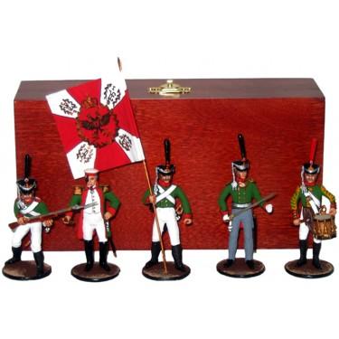 Набор миниатюр в деревянной шкатулке Русские при Бородино Rovertime 31.44.M