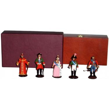 Набор миниатюр в деревянной шкатулке Русские цари Rovertime 31.54.M