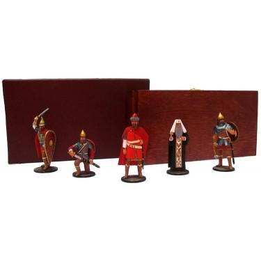 Набор миниатюр в деревянной шкатулке Русские витязи Rovertime 31.49.M