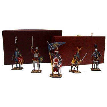 Набор миниатюр в деревянной шкатулке Рыцари Rovertime 31.53.M