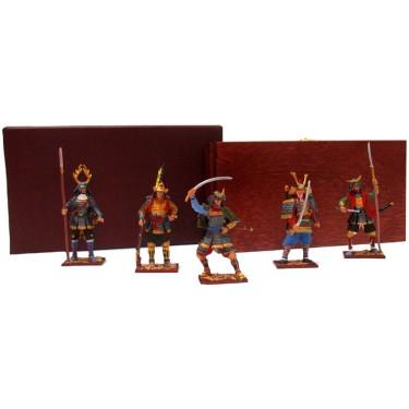 Набор миниатюр в деревянной шкатулке Самураи Rovertime 31.46.M