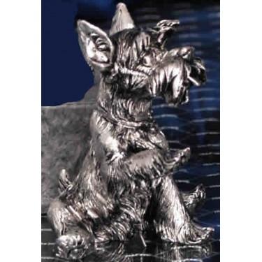 Собачка сидящая с поднятой лапой Moda Argenti ST 618