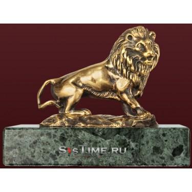 Статуэтка Лев на земле из бронзы Vel 03-08-03-01401